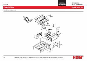 HSM Classic 225 CC 225 SC Paper Shredder Rotation Sensor