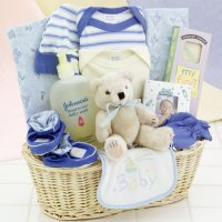 Gift Baskets Created : News Arrival Baby Boy Gift Basket