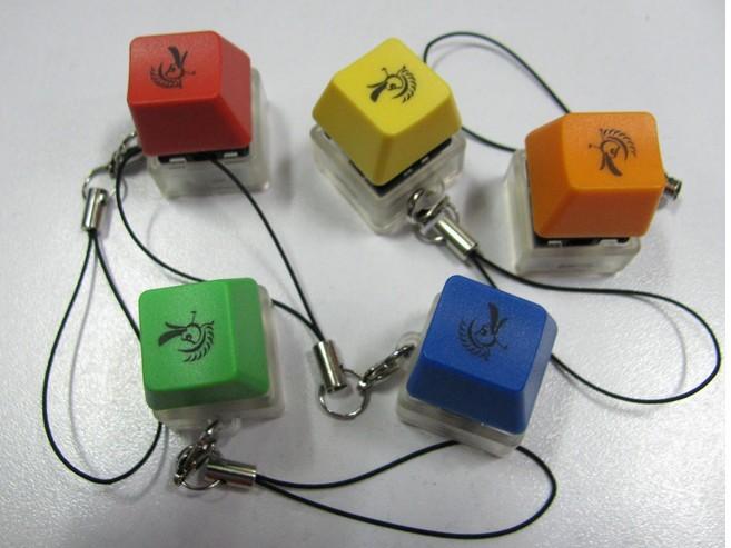 naranja s keycap keychain
