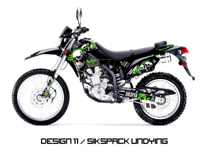 Kawasaki KLX250S & KLX250SF Graphic Graphics Kit Decal