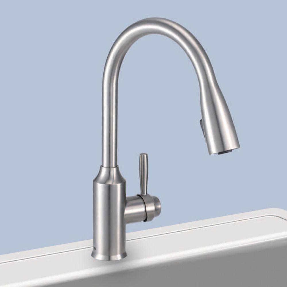 Glacier Bay FP4A4080SS Invee 8 In Pulldown Kitchen Faucet