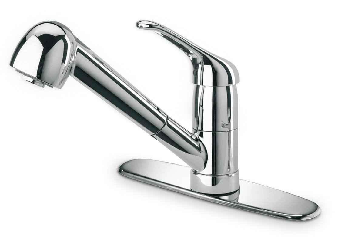 kitchen faucet with pull out sprayer cabinet hardware drawer slides glacier bay latoscana 45cr564 single handle