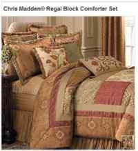 Chris Madden Regal Block Comforter Set KING NEW ...