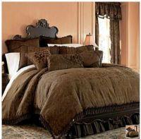 Chris Madden Brown Damask Jacquard Queen Comforter Set NEW ...