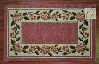 2x3 kitchen rug wood table mat pink washable mats rugs flower flowers floral