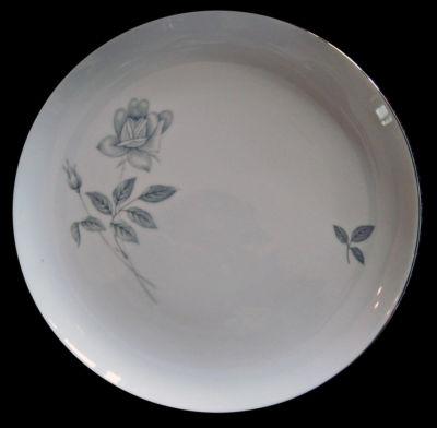 Vintage Dinnerware Set Queens Royal China Rosebud Platinum 35 Pieces Serves 8 forsalebypolly