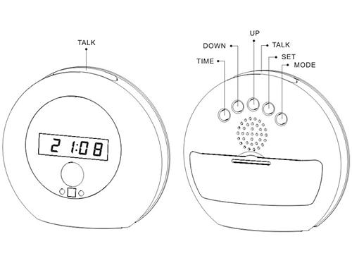1280 x 960 HD Spy Cam Wecker Uhr Bewegungsmelder Spion