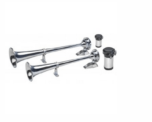 Wolo 150 Two Chrome Plated Sea Alert Xtreme Series Trumpet