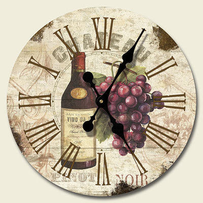 wine bottle themed kitchen decor replace sink new grapes & wall clock tuscany ...