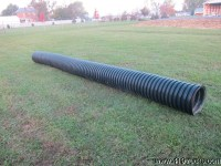 "BLACK PLASTIC CORRUGATED DITCH CULVERT PIPE 15"" inch X 21"