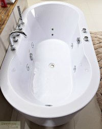 BATHTUB FREESTANDING WHIRLPOOL JETTED Hydrotherapy Massage ...
