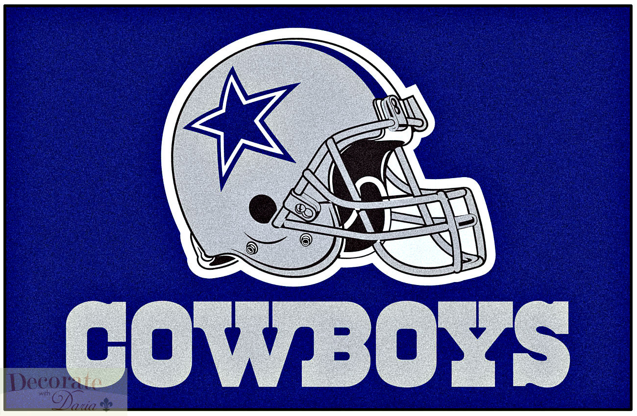cowboys football helmet chair material to cover dining chairs dallas nfl indoor floor mat 19 quot x 30 starter