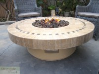 GAS FIREPLACE FIRE PIT OUTDOOR MARBLE MOSAIC Lava Rocks 19 ...