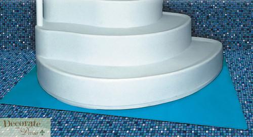 FINEST WEDDING CAKE ABOVE GROUND POOL STEP ENTRY w 4x 5