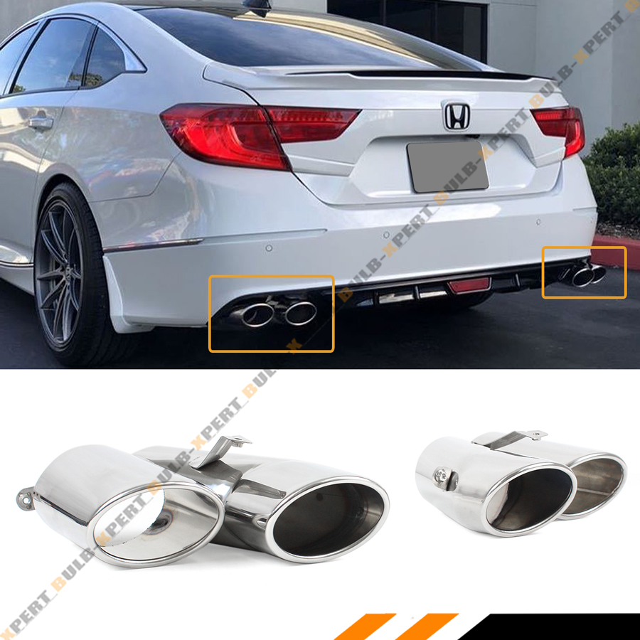 details about for 18 2020 honda accord sport touring akasaka quad tip muffler exhaust finisher