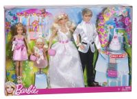 Barbie I CAN BE Bride Groom Ken Stacie Chelsea Wedding ...