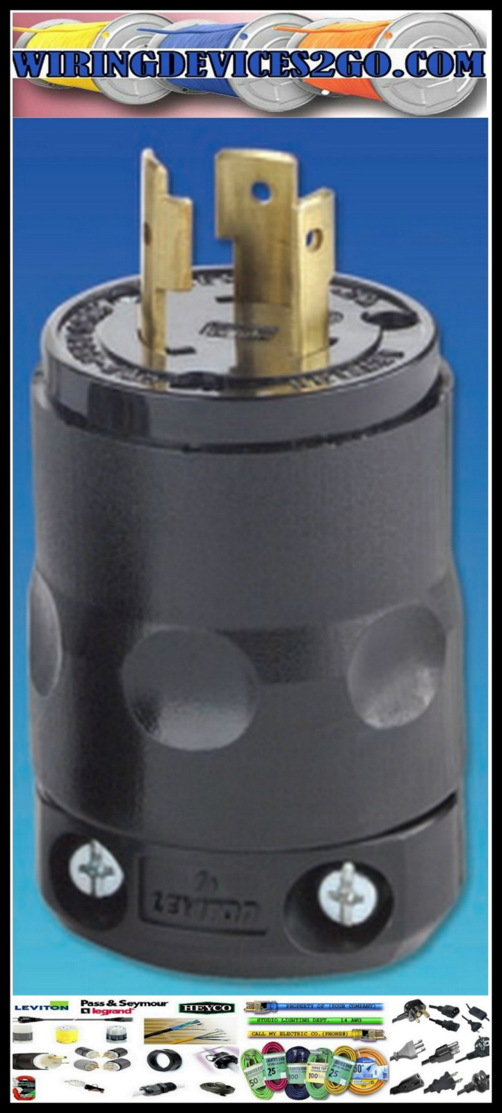medium resolution of leviton l7150 nema l7 15p 2 pole 3 wire 15a 277v commercial grade 277v light electrical wiring diagrams 277v plug wiring