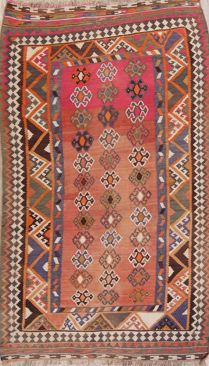 Details About Kilim 5x9 Wool Hand Woven Geometric Oriental Rug Semi Antique