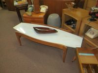 Marble top Surfboard Retro Coffee Table - Awesome! Mid-Mod ...