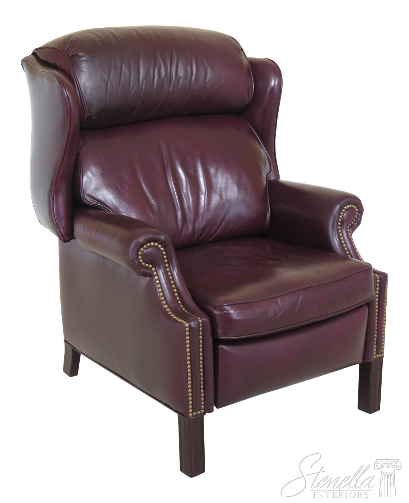 Wingback Recliner Chair Details About 46904ec Hancock Moore Burgundy Leather Wingback Recliner Chair