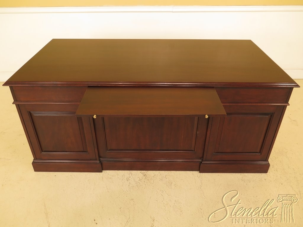 30406 STATTON Large Solid Cherry Executive Office Desk w