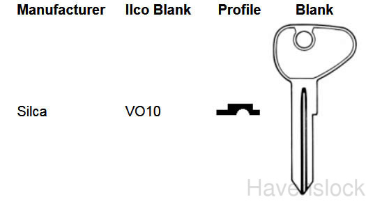 Foreign Auto Key V81W (DL HF33, ILCO VW71) for Volkswagen