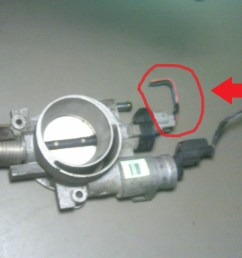 2003 chrysler town and country 3 3l throttle position sensor pigtail this is the pigtail wires with connector that plugs into the throttle body mounted  [ 1200 x 900 Pixel ]