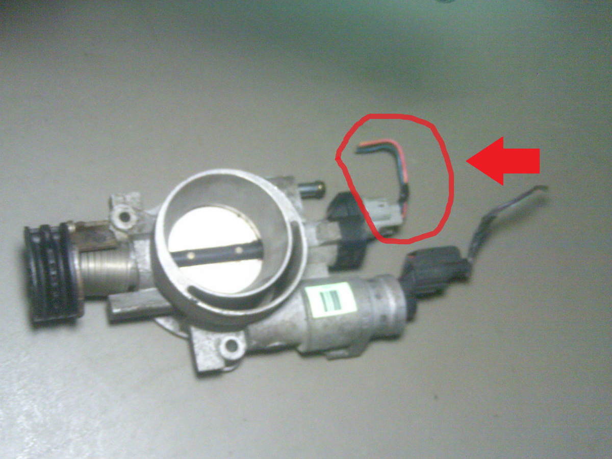 hight resolution of 2003 chrysler town and country 3 3l throttle position sensor pigtail this is the pigtail wires with connector that plugs into the throttle body mounted