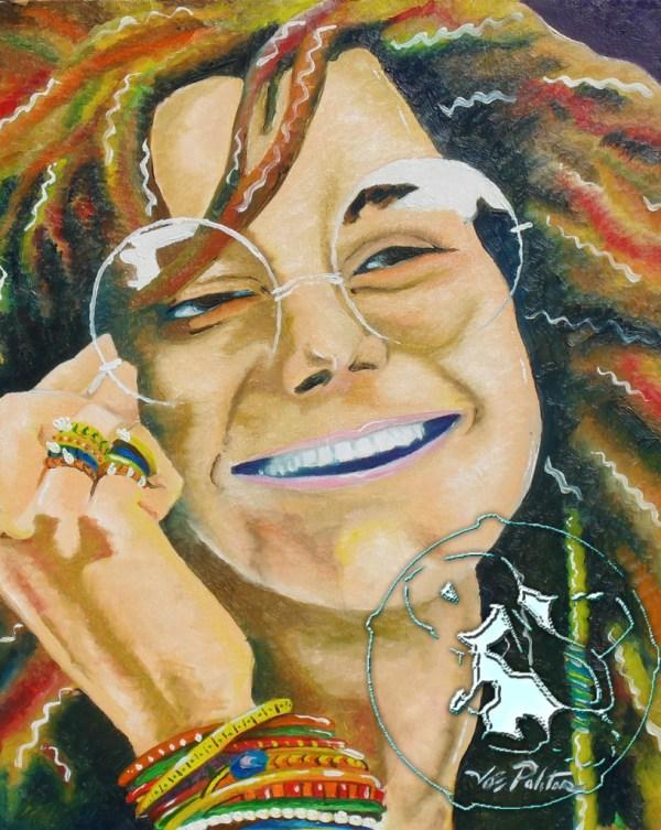 Artsinwonderland Janis Joplin Greatest Original Painting With Frame 16x20