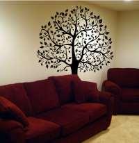 LARGE BIG TREE, BIRD Wall DecalDeco Art Sticker Mural ...