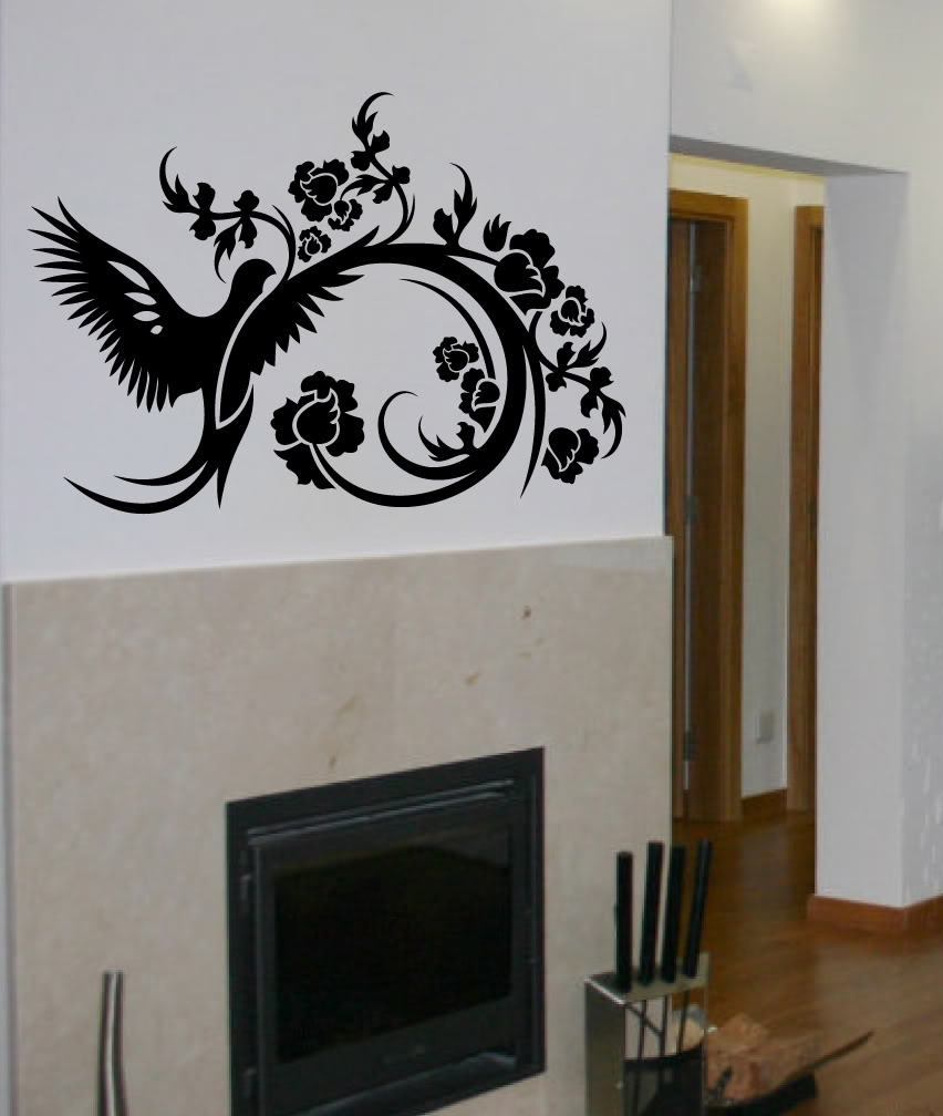 Wall Decal Tree Branch Birds Leaves Art Sticker Mural