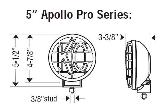 KC Hilites 452 Apollo Pro 5