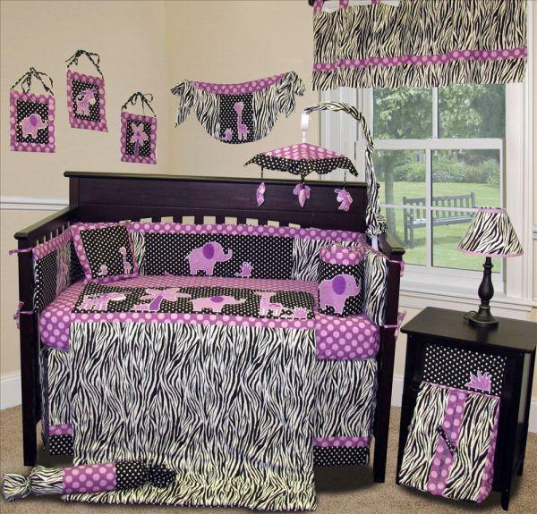 Baby Boutique - Animal Planet Purple 15 Pcs Nursery Crib Bedding Set