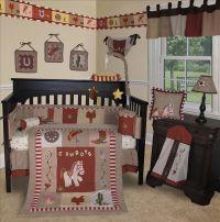 Baby Boutique -Western Cow Boy 13 PCS Crib Bedding Set