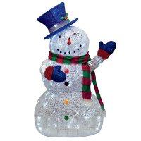 "CHRISTMAS 48"" LED LIGHTED SUGAR THREAD SNOWMAN LIGHTS ..."