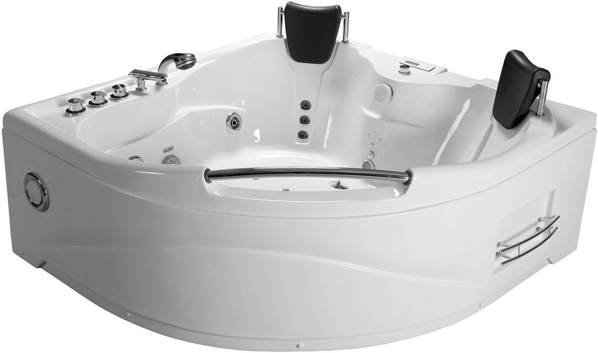 2 PERSON BATHTUB CORNER Whirlpool Jacuzzi Tub SPA Therapy Massage Jets White New  eBay