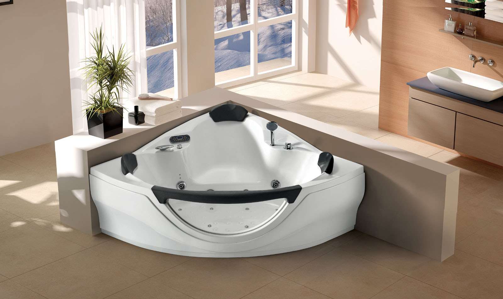 JACUZZI WHIRLPOOL Bathtub wMassage Jets Heated SPA Hot Tub FM MP3 CD Black New  eBay