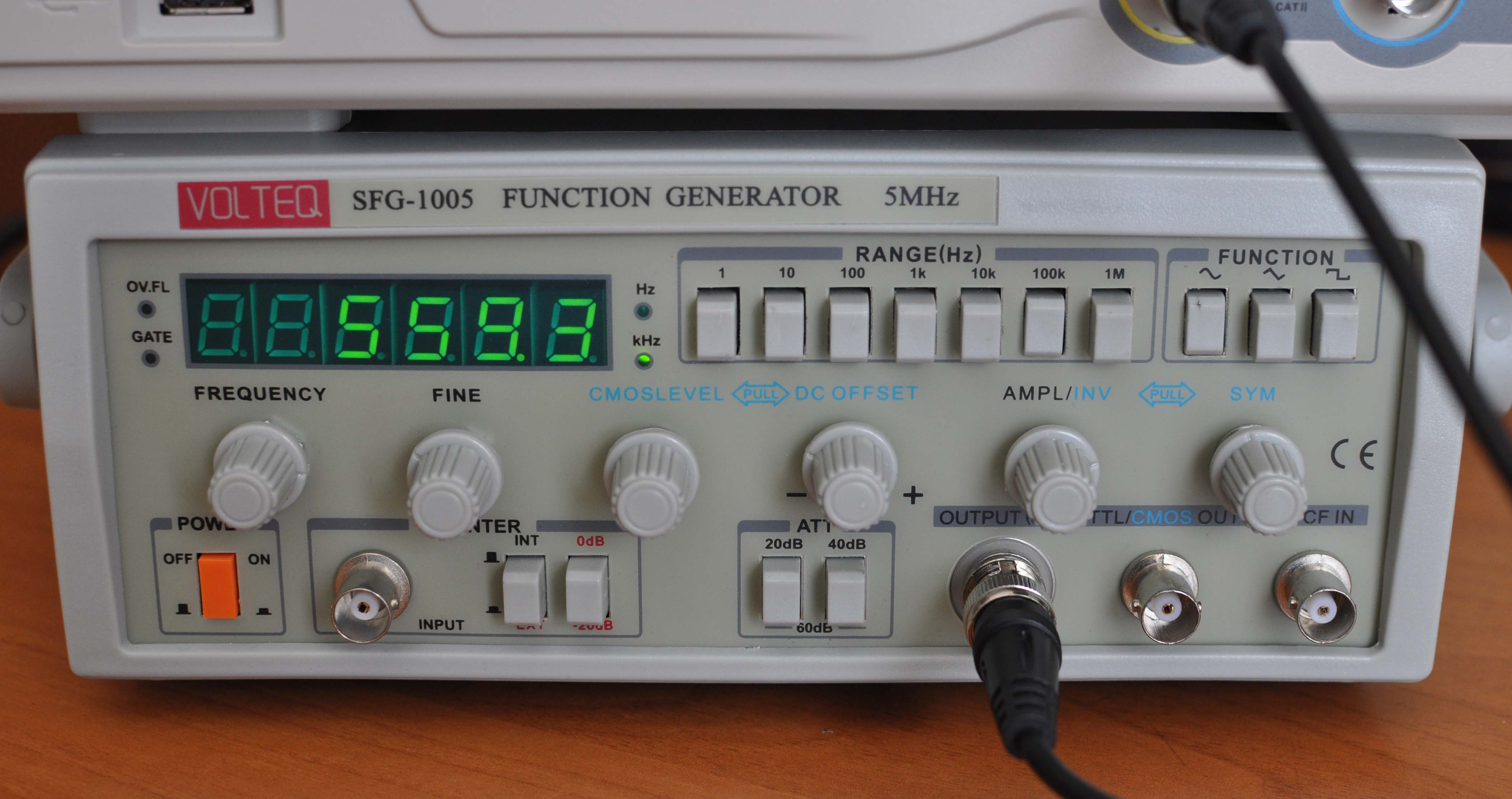 5 Mhz Function Generator Frequency Counter Sfg