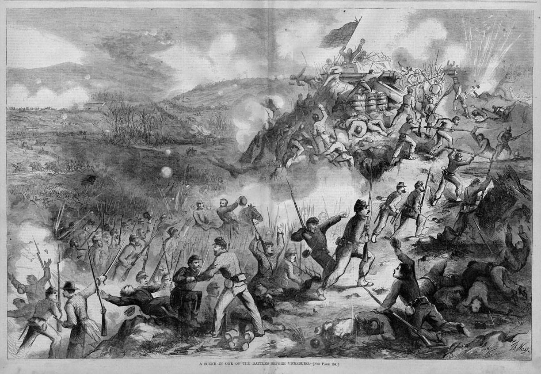 Civil War Vicksburg Battle Sword Bayonette Dead By