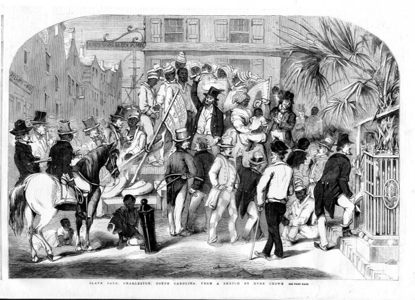 Slave Auction In Charleston South Carolina Gang Of