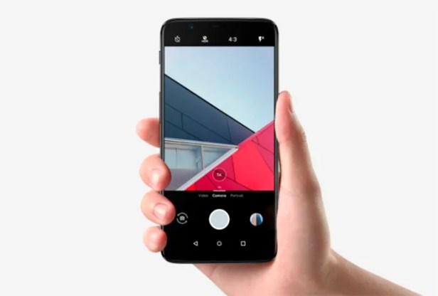 Câmera frontal OnePlus 5T