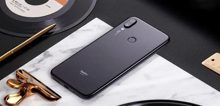 Redmi Note 7 Pro negro parte trasera