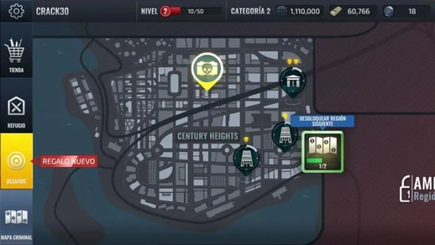 mapa de assalto armado