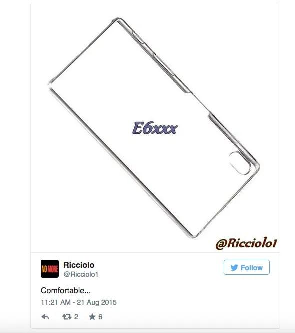 Imagen filtrada del Xperia Z5