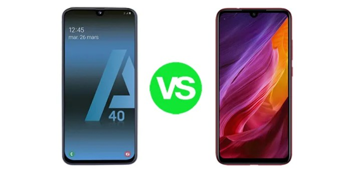 comparativa redmi 7 vs galaxy a40
