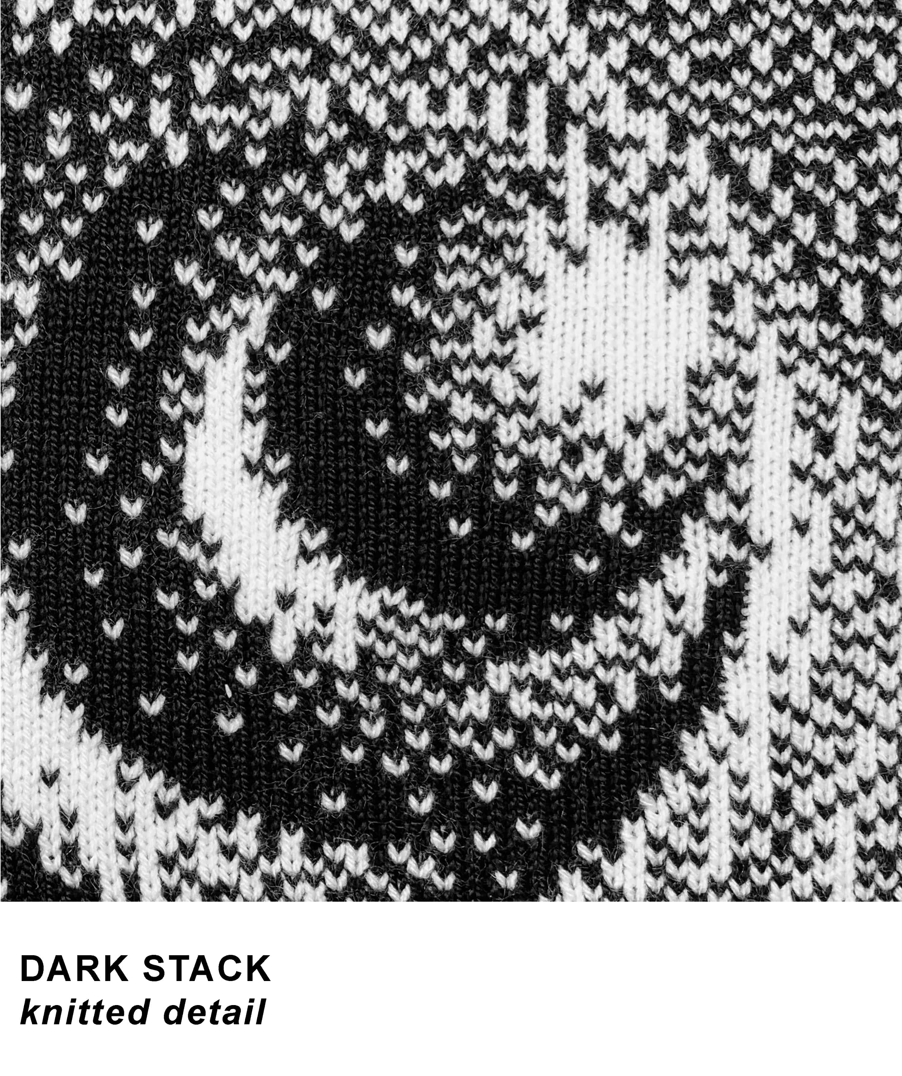 DARK STACK knitted detail template