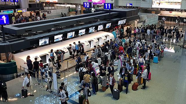 「桃園國際空港」第二ターミナルで自動荷物預け入れができる ...