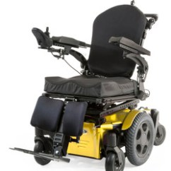 Yellow Wheelchair Computer Gaming Chairs Quickie Pulse Electric Power Sunrise Medical Full Chair