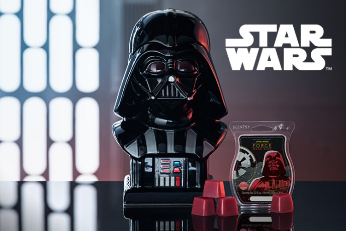 Experience our Darth Vader™ Warmer and Dark Side fragrance Sept. 19, while supplies last