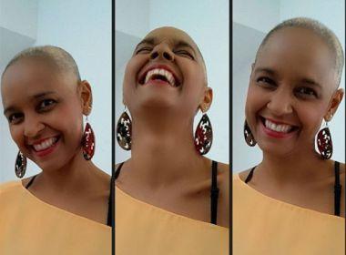 Em tratamento contra um câncer, Carla Visi raspa cabelo e compartilha visual: 'Libertador'